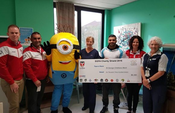 St George FA Charity Shield raises money for St George Hospital Children's Ward