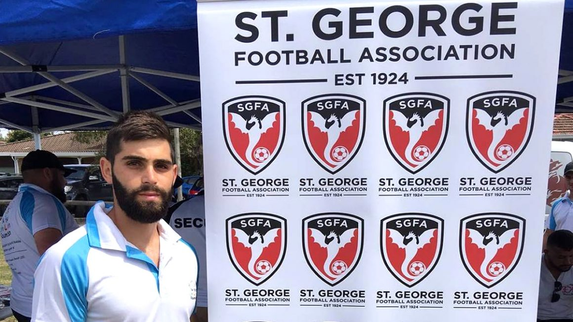 Charity shield event with St George Football Association.